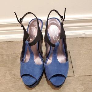 Jessica Simpson T Strap Platform Sandals